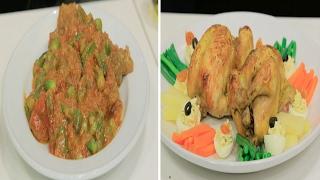 دجاج محشي - طاجن بامية باللحم | مغربيات حلقة كاملة