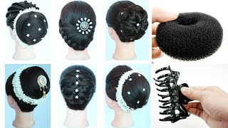 6 juda hairstyle for gown, lehnga, party & weddings | ladies hair style | hairstyle for women | bun