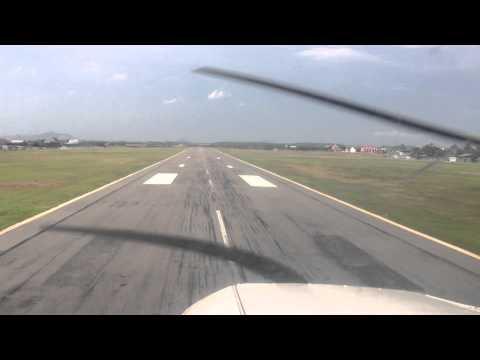 Landing at Melaka Airport
