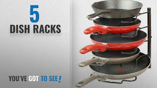 Top 10 Dish Racks [2018]: Callas Kitchen Cabinet Pantry Pan and Pot Lid Organiser Rack Holder,