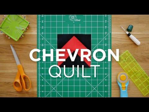 Make An Easy Chevron Block Quilt Snips Youtube