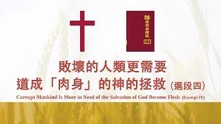 末世基督的說話《敗壞的人類更需要道成「肉身」的神的拯救》選段四