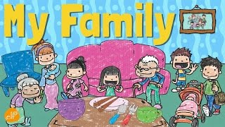 My Family Vocabulary For Kids   Pronouns and Contractions   ELF Learning
