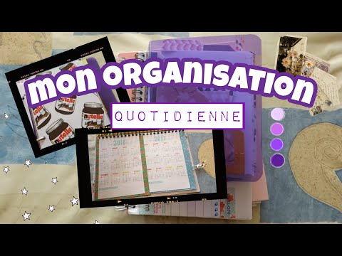 Organisation 1 comment je m 39 organise au quotidien agenda bullet journal et weekly planner - Organisation m u00e9nage quotidien ...