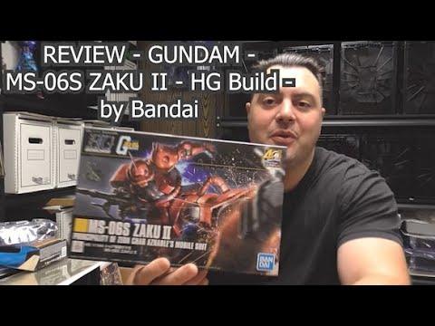 Review n' Build - GUNDAM - MS-06S ZAKU II - HG model - by Bandai