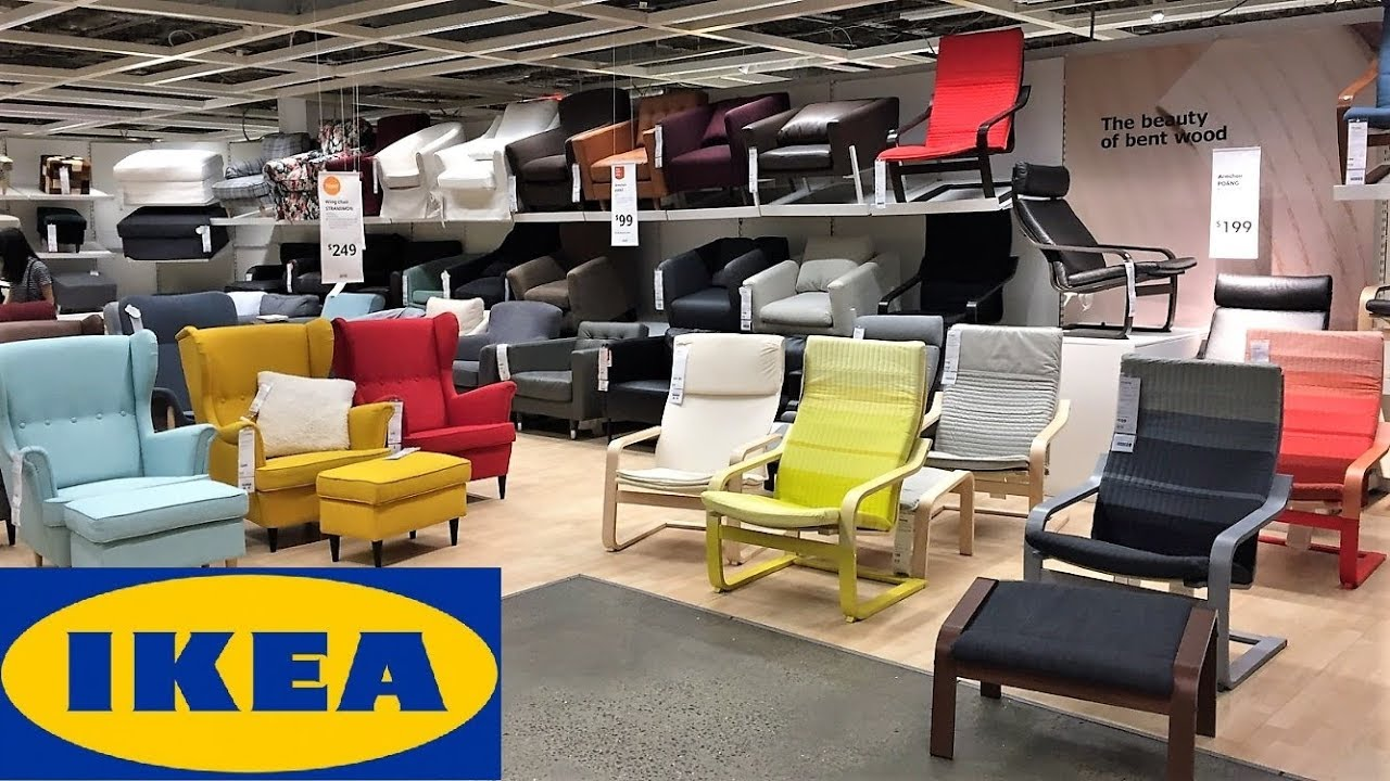 IKEA SPRING SUMMER ARMCHAIRS CHAIRS FURNITURE - SHOP WITH ME SHOPPING STORE  WALK THROUGH 8K