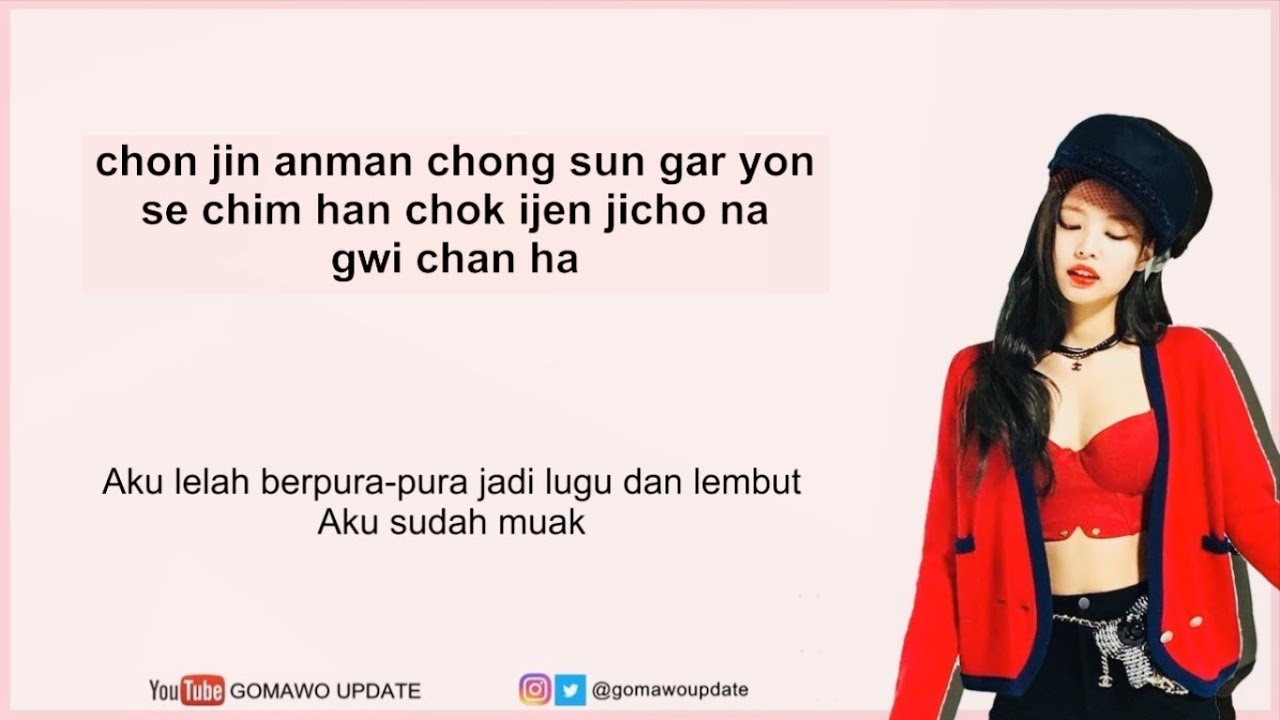 easy lyric jennie blackpink solo by gomawo indo sub