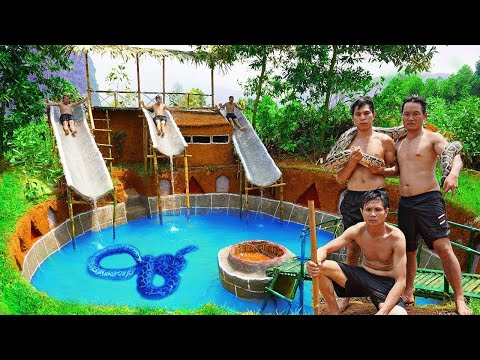 Primitive Technology 2020 LIVE 24/7🌿How To Make Underground House 🌿 Swimming Pool 🌿Survival Skill