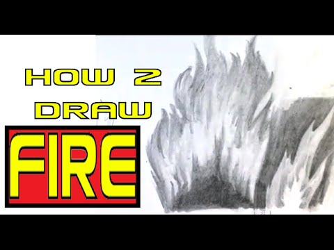 how to draw fire easy things to draw youtube