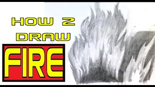 How to Draw Fire - Easy Things to Draw