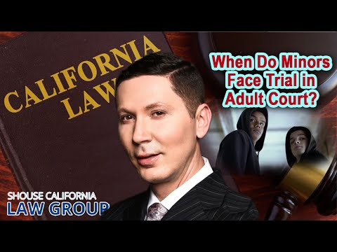 When do minors face trial in adult court?