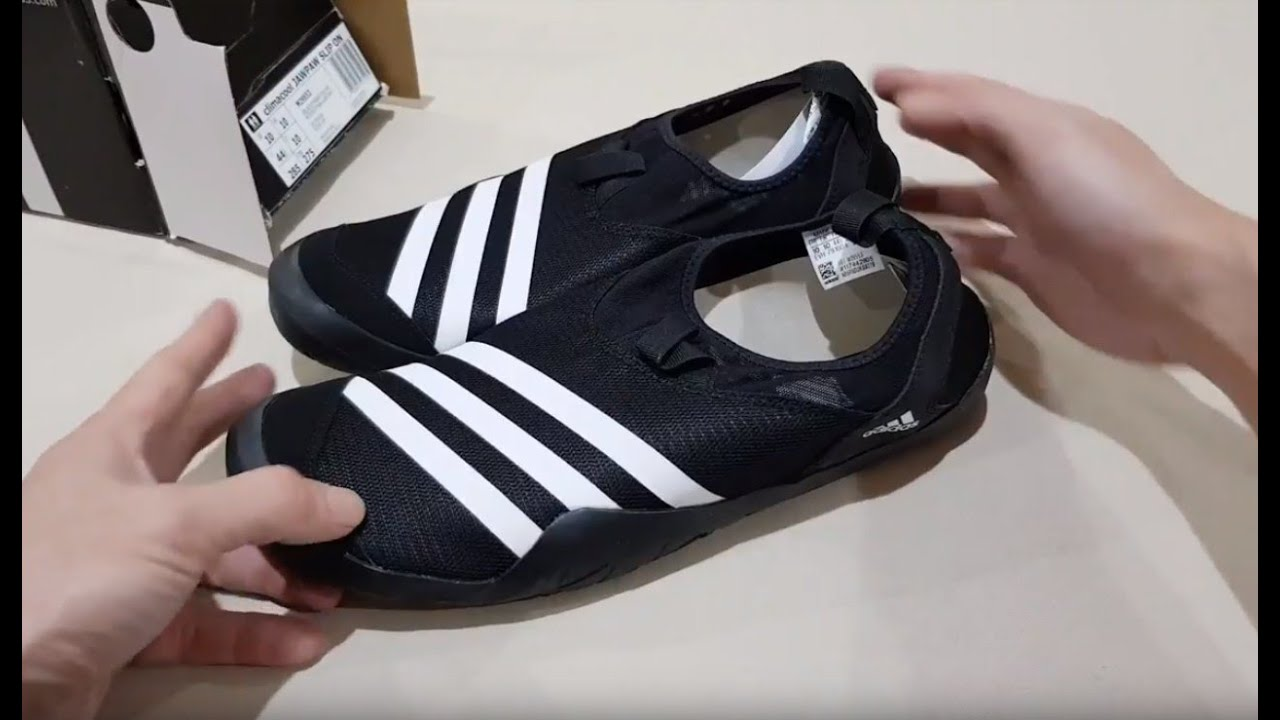 63ed36aeeb4a Unboxing ADIDAS CLIMACOOL JAWPAW SLIP ON OUTDOOR WATER SHOES SEPATU ...