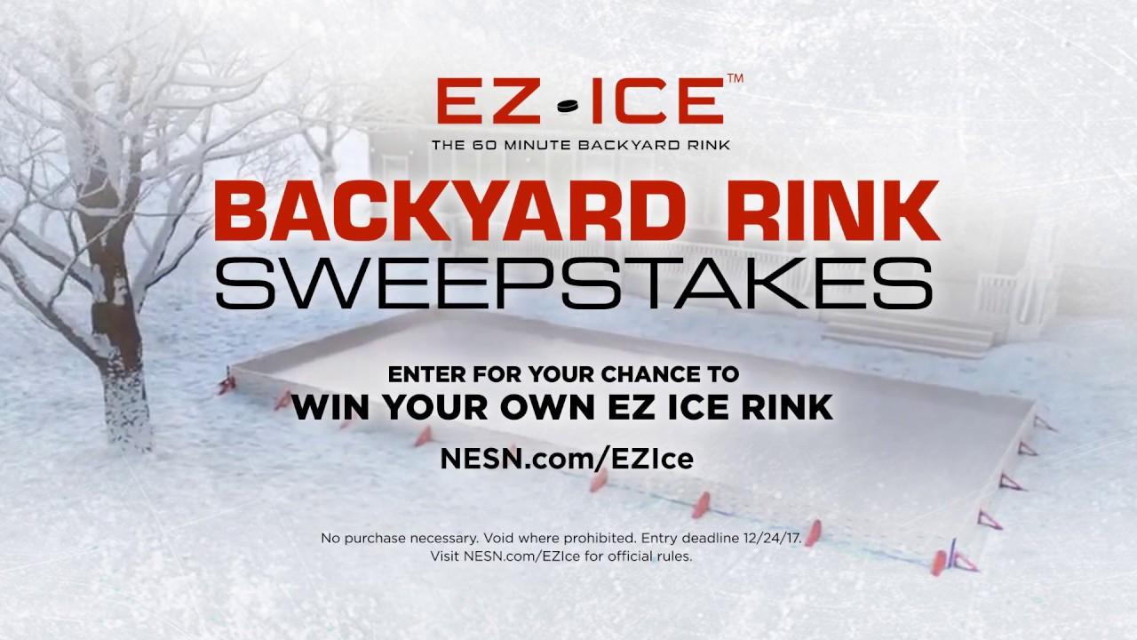 ez ice backyard rink sweepstakes youtube
