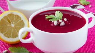 👍 Шикарная похлебка (суп пюре) из свеклы с мясом и пампушками рецепт, почти борщ