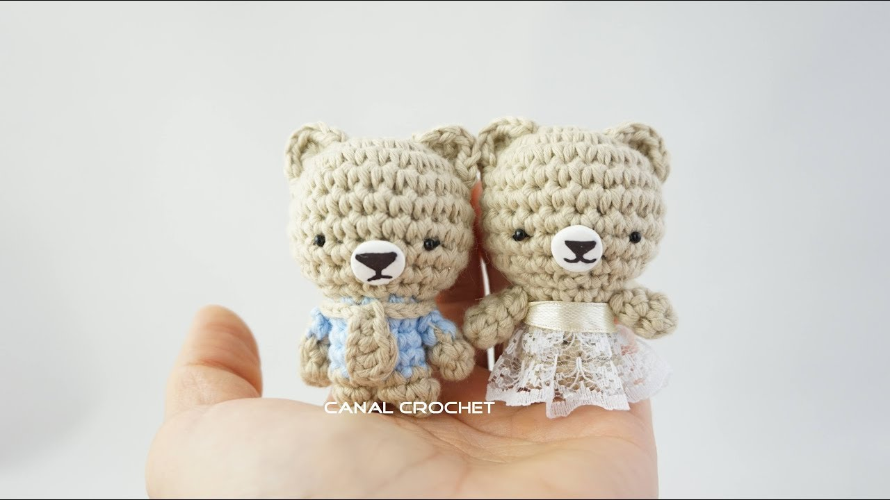 Mini osito amigurumi tutorial - YouTube