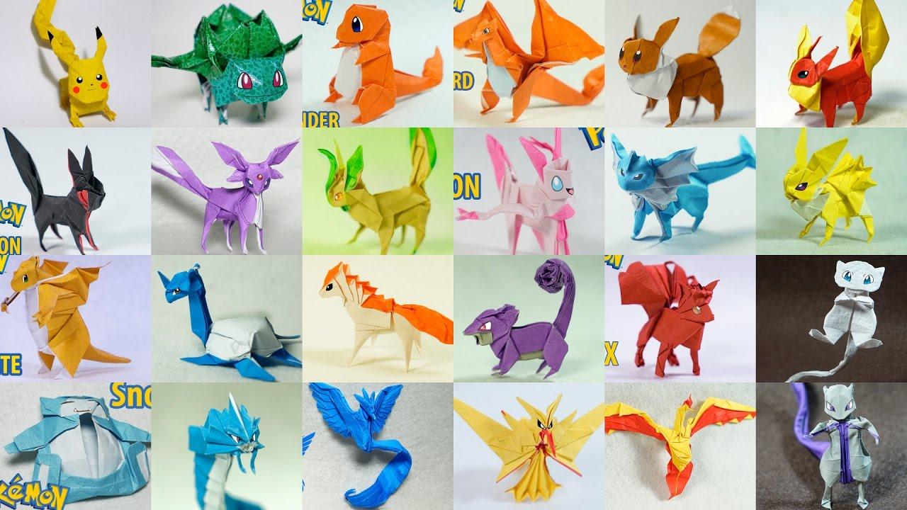pokemon origami follow easy steps . how to make Pokemon character ... | 720x1280