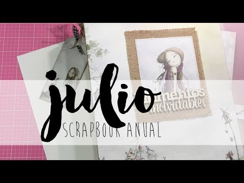 SCRAPBOOK ANUAL Julio tutorial scrapbooking