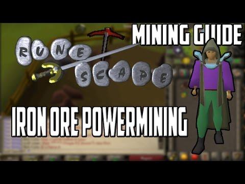 [2007] RuneScape Mining Guide: Iron Ore Powermining