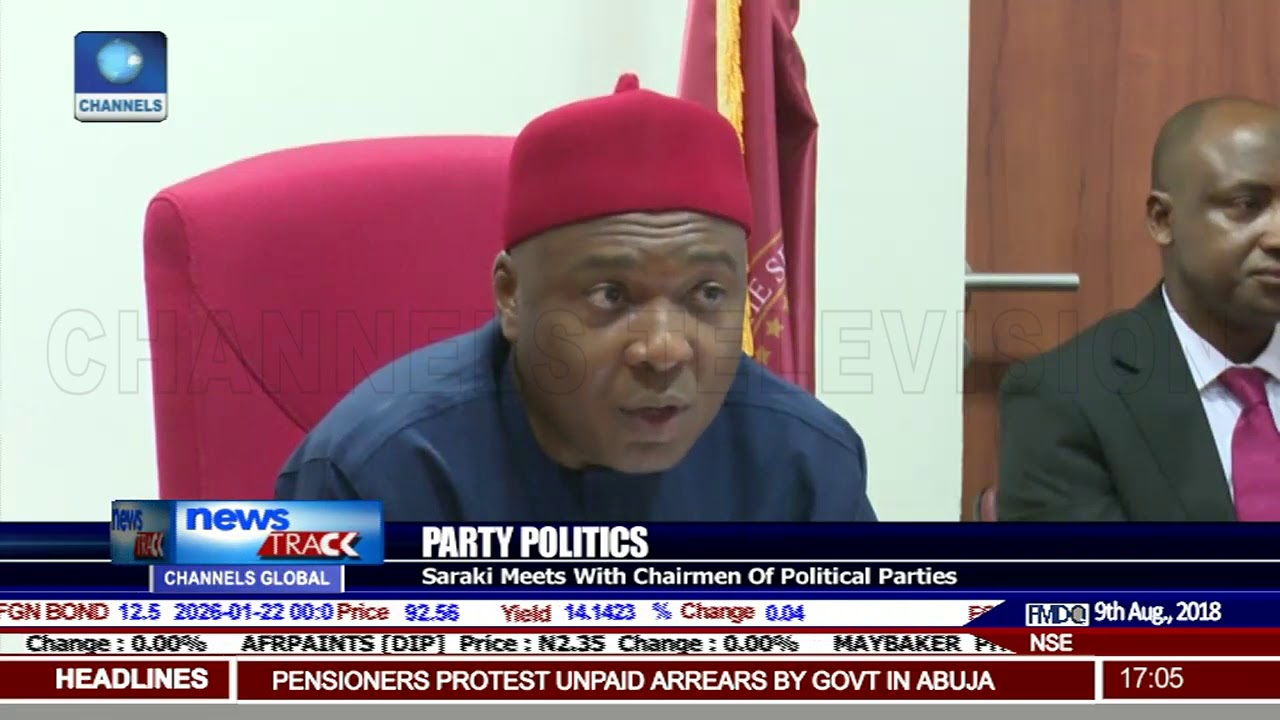 Saraki Meets With Chairmen Of Political Parties