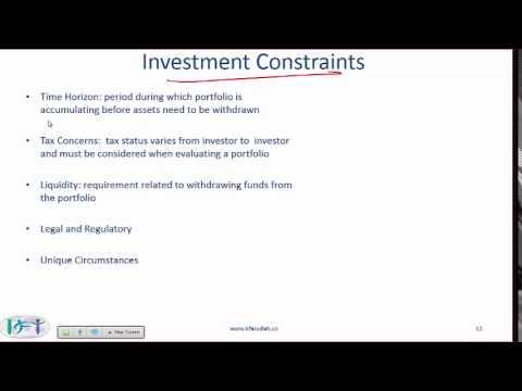 2017 Level I CFA Portfolio Management: Portfolio Planning & Construction Summary