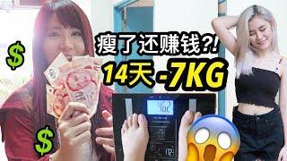 不运动14天瘦了7公斤还有钱赚?!! 【14天减肥挑战】