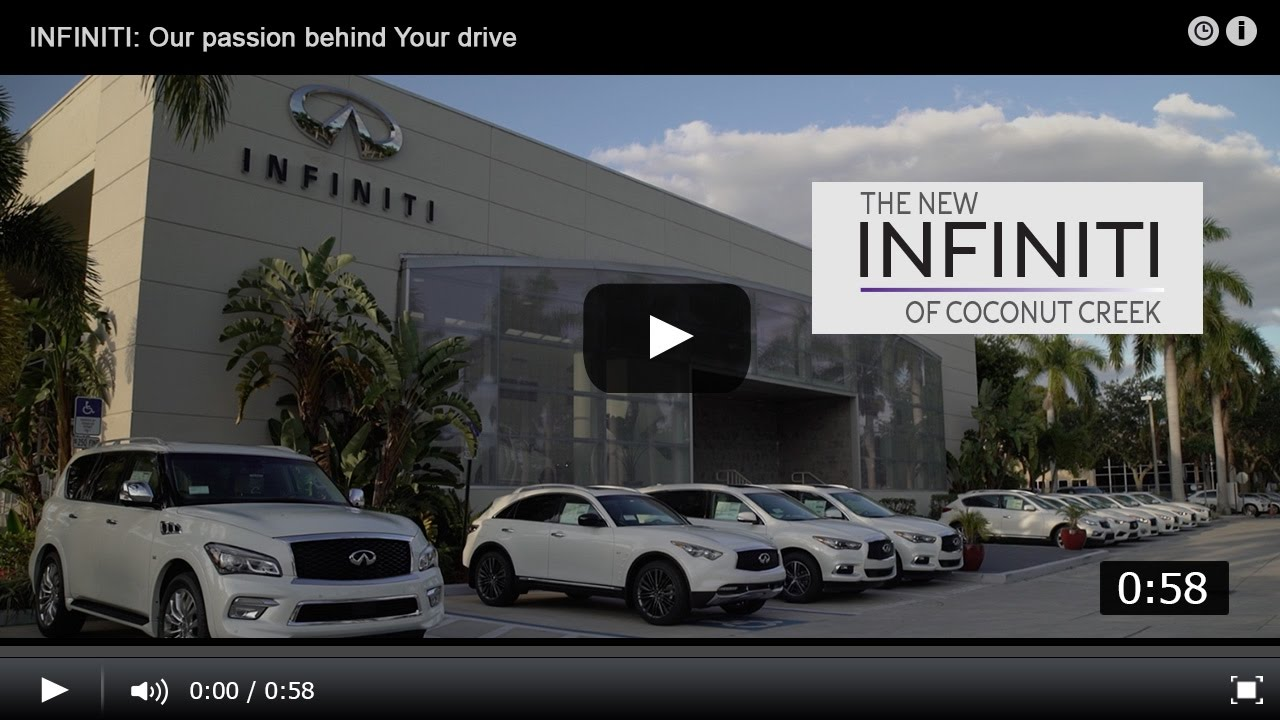 Coconut Creek Infiniti >> Our Passion, Your Drive: INFINITI of Coconut Creek - YouTube