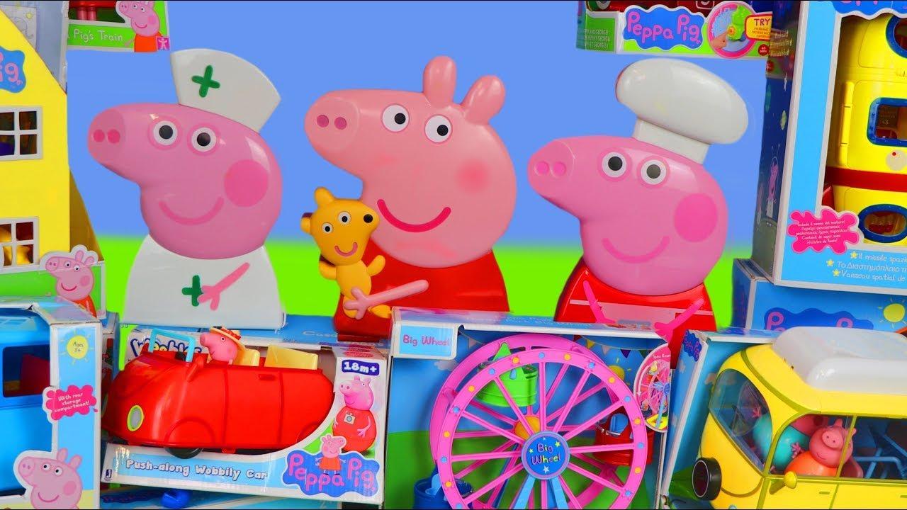 Peppa Pig juguetes - La Casa - Avión - Caravana - Barco - Juego para casa - Toys for kids