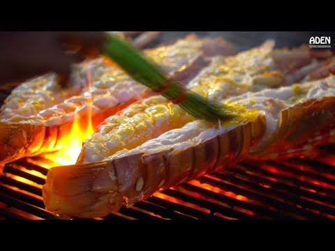 Thailand Street Food: Lobster & Giant Tiger Prawns BBQ