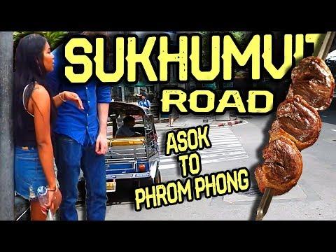 Sukhumvit Road in Bangkok - from Asok to Phrom Phong BTS station