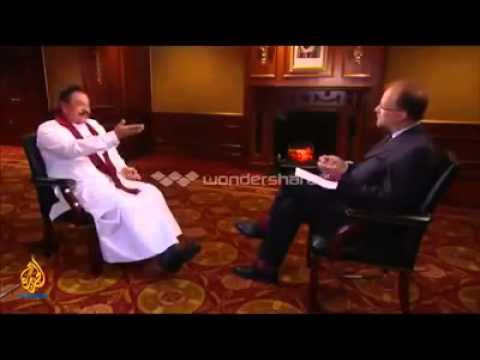 THE REAL FACE OF MAHINDA RAJAPAKSA IN FRONT OF AL JAZEERA - http://srilanka-mujahedin.blogspot.com/
