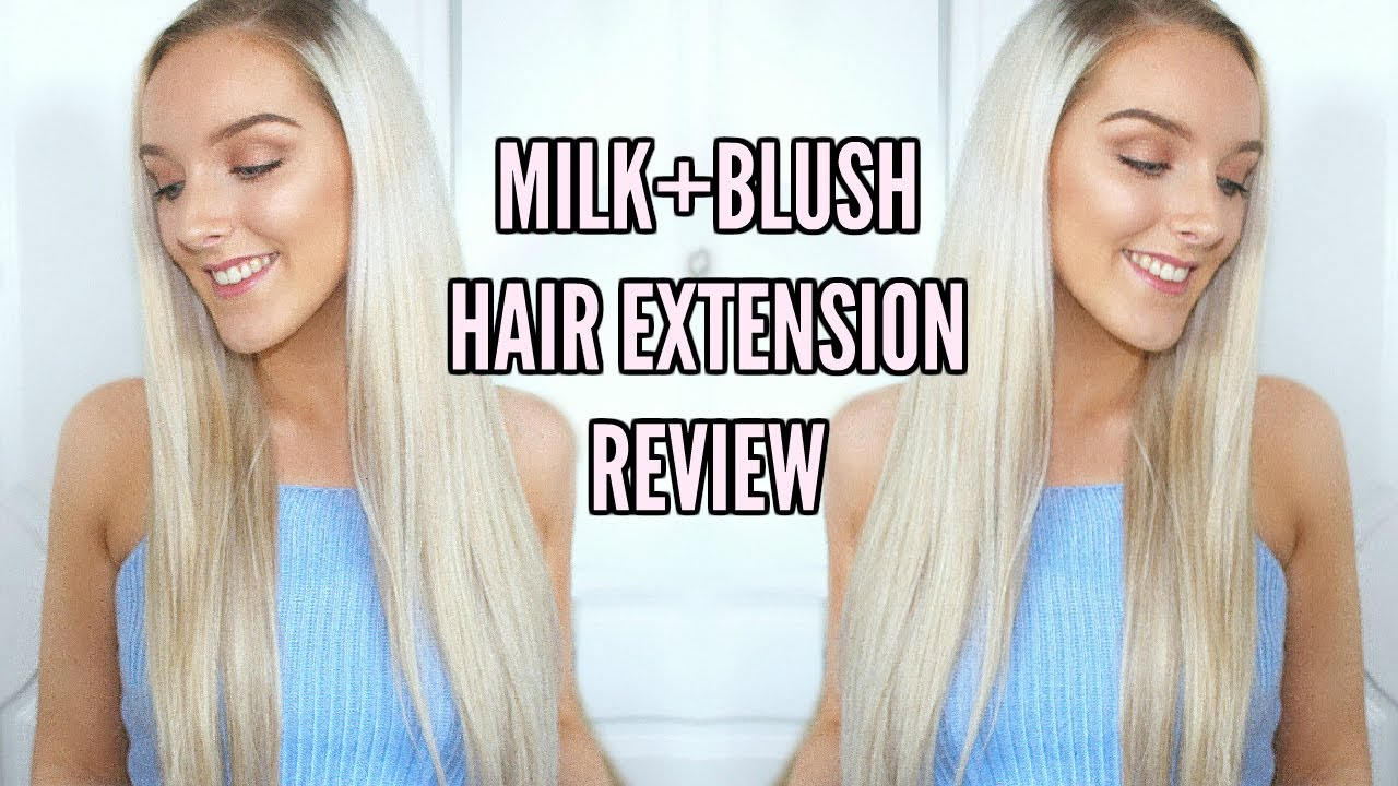 Milk And Blush Hair Extensions Review 24 26 Inch Youtube