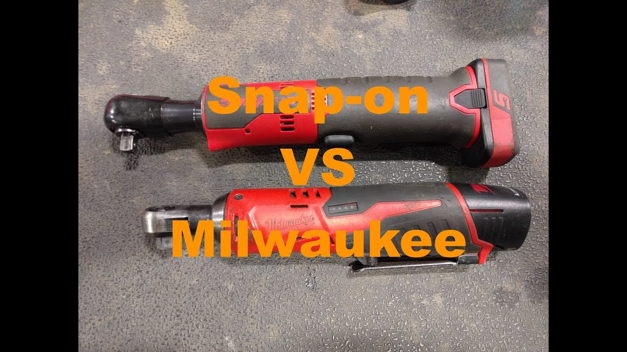 snap on vs milwaukee cordless ratchet review youtube. Black Bedroom Furniture Sets. Home Design Ideas