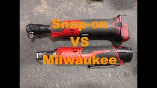 Snap-on vs Milwaukee cordless ratchet review