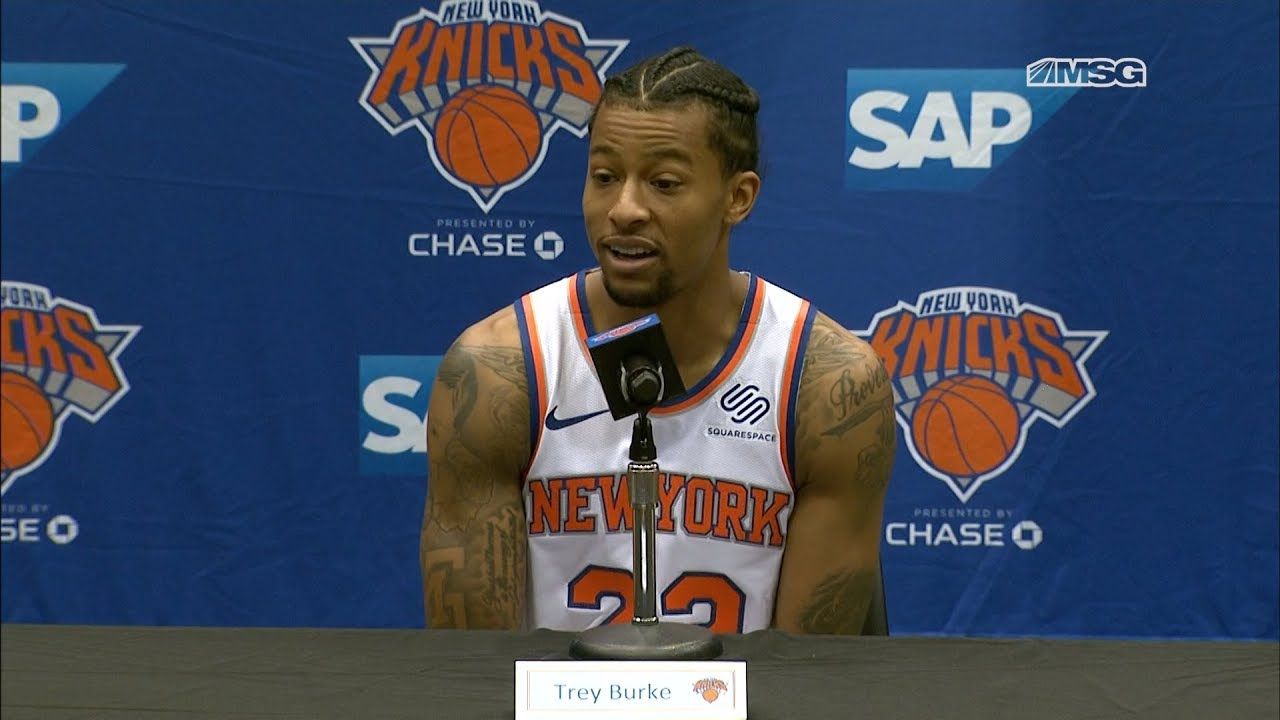 official photos da03b e94cb Trey Burke Thrilled to be Working With David Fizdale | New York Knicks |  MSG Networks