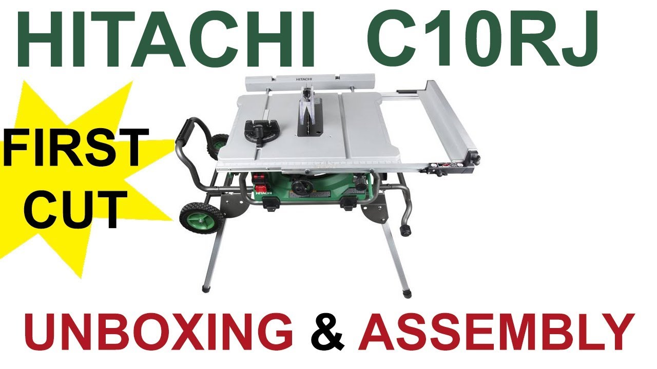 Hatachi c10rj unboxing and assembly with first cut youtube hatachi c10rj unboxing and assembly with first cut greentooth Image collections
