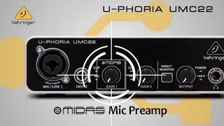 Behringer U-Phoria UMC22 Unboxing + Test Rode Nt1 A [German]