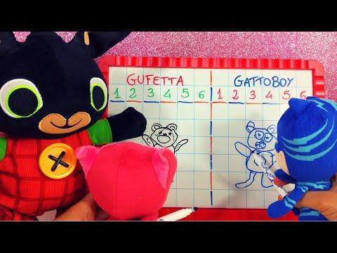La gara di disegno di Gattoboy e Gufetta! Disegnate con noi bambini ✏️ E c'é anche Bing