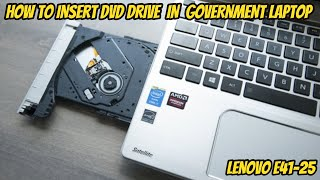 How to fix dvd writter on government free laptop lenove e41