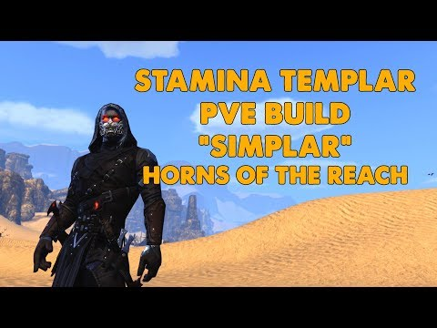 "ESO - Stamina Templar PVE Build ""SIMPLAR""  (Horns Of The Reach)"