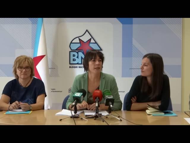 Distribución das áreas de traballo no novo grupo parlamentar do BNG
