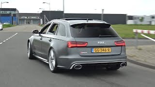 Audi RS6 Avant C7 - Revs, Accelerations, Fly by's!