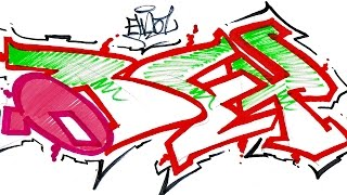 Step By Step How To Draw Graffiti Letters - Write Obey In Graffiti For Beginners