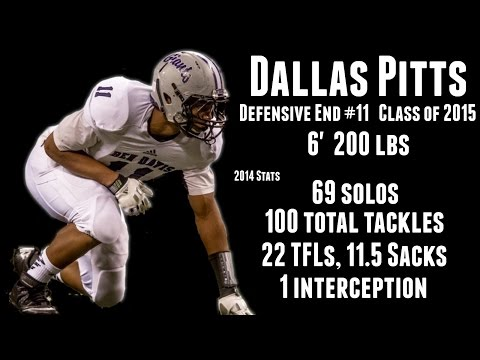Dallas Pitts Defensive End Class of 2015 Highlights