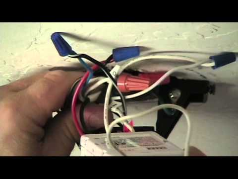 How to Convert a Ceiling Fan to Remote Control - YouTube