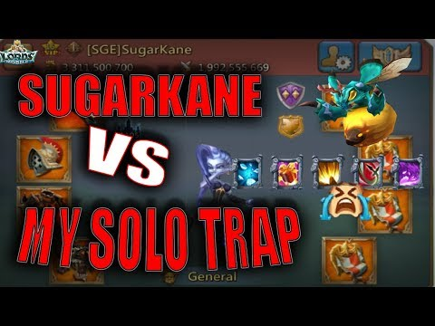 SUGARKANE VS MY SOLO TRAP - END OF TRAPS??! AWOKEN FAMILARS - LORDS MOBILE