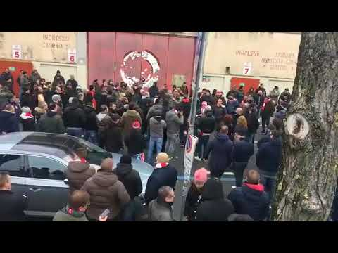Ultras Vicenza ritrovo al Menti 13/01/18