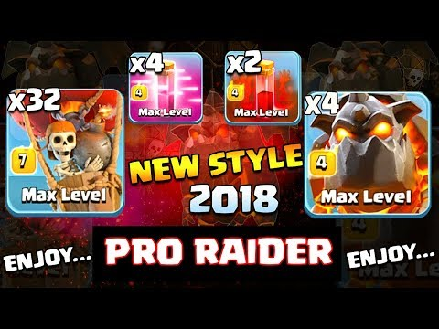 32 BALLOON +2 LAVA + 2 SKELETON SPELL +4 HASTE SPELL: TH11 PRO WAR ATTACK STRATEGY 2018 (Updated)