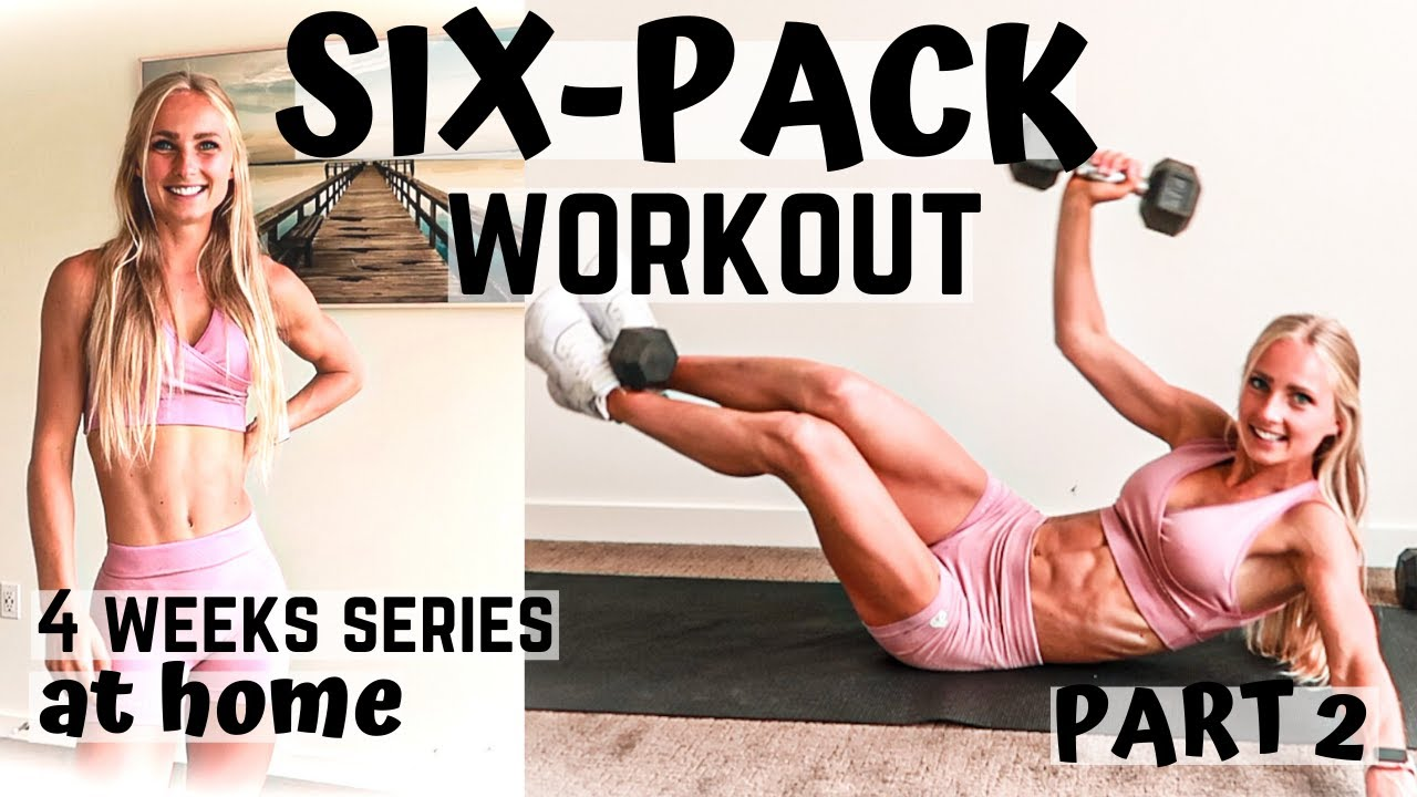 SIX-PACK WORKOUT AT HOME - 4-weeks series (Part 2) with weights to work the oblique/side abs