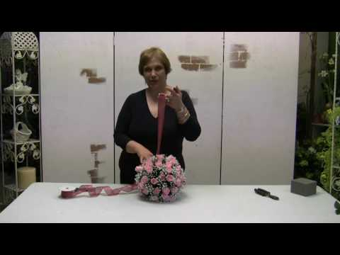 How To Make A Pomander Ball (Kissing Ball) Using Silk Flowers