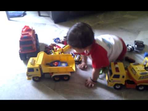 My Baby Boy Playing Toys Car Youtube